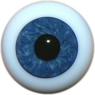 Reborn Dolls Real Glass Full Round Eyes, Color 58 Dark Blue 20 Mm