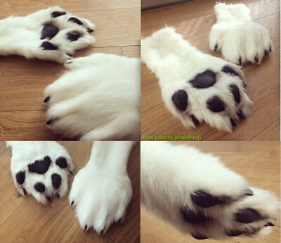 Fursuit Paws Animal Costume Gloves Fur  Realistic airbrushed feline canine NFT