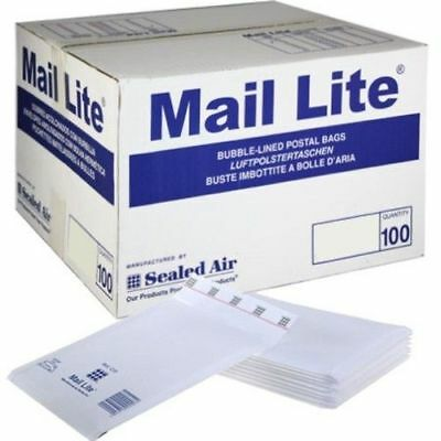 A/000 Mail Lite / Lites Sealed Air Padded Envelopes Bubble Lined White