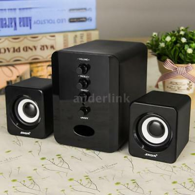 New USB Wired Computer Speakers System PC Laptop Desktop Notebook Subwoofer J0Q9