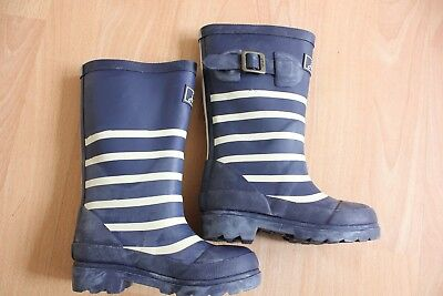 Joules boys blue striped wellies NEW  8 infant  & jnr 1,2,3, 4, 6