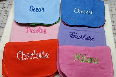 New HM Baby Bib Solid Color Boys Girls Reversible Durable Absorbent Many Options