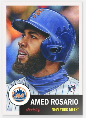2018 Topps Now Living Set 8 #23 Amed Rosario RC Rookie Card New York Mets