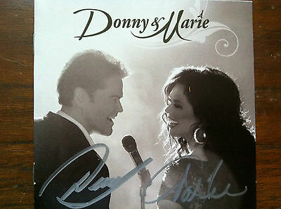 Donny & Marie by Donny & Marie cd signed by both Osmonds autographed