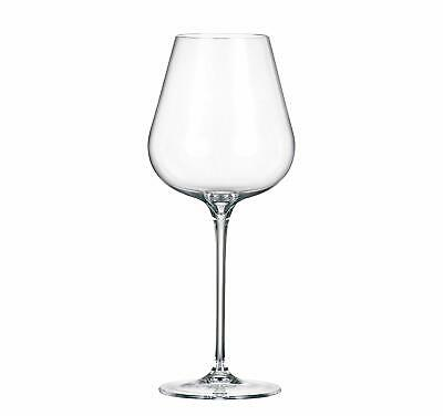 "(D) Set of 6 Bohemian Crystal ""Amy"" Red Wine Goblets 15.5 Oz, Lead Free Glasses"