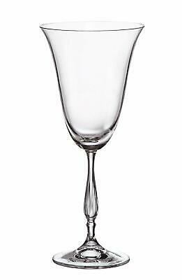 "(D) Set of 6 Bohemian Crystal ""Antik"" Red Wine Goblets 12 Oz, Lead Free"
