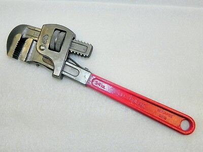 "Vintage Lectrolite 14"" Adjustable Pipe / Monkey Wrench * MADE in USA * FREE SHIP"