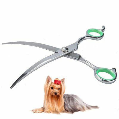 Dog Grooming Scissors Curved Scissors Round Tip Top for Dogs and Pet Stainless