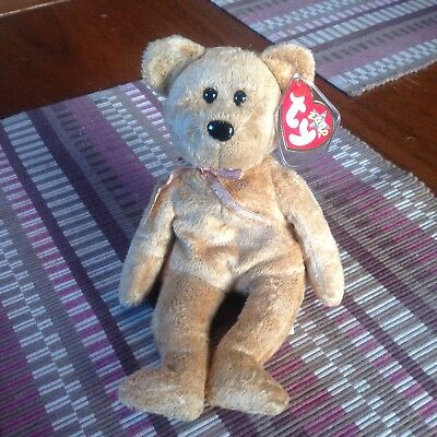 Ty 2000 Beanie Babies CASHEW the Bear New with Mint Tag