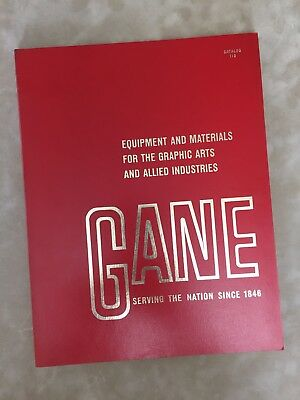 Gane Brothers & Lane 1965 Equipment & Materials Industrial Graphic Arts Catalog
