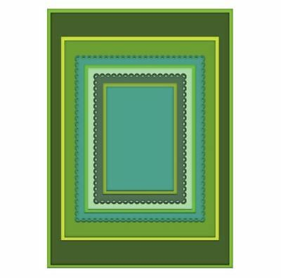 Heartfelt Creations Die Set ~ EYELET RECTANGLE & BASICS ~ Frame A Card  -7189