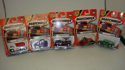 Lot Of 5-Matchbox-Mixer,Radar,Humvee,Sweeper,Roller Paver-2000,2001-Sealed