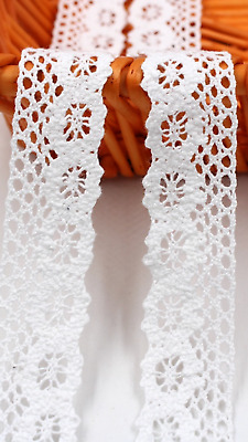 White 3cm Trim Tassel Fringe Cotton Lace Ribbon Price per 30cm DIY Craft Sewing