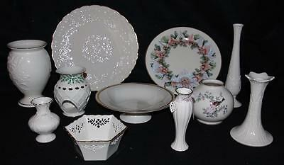 12 piece Mixed Lot of LENOX Porcelain Vase Bowl Plate  Platter and more!