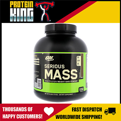Optimum Serious Mass 2.72Kg Chocolate High Protein Bulk Weight Gainer Powder 6Lb
