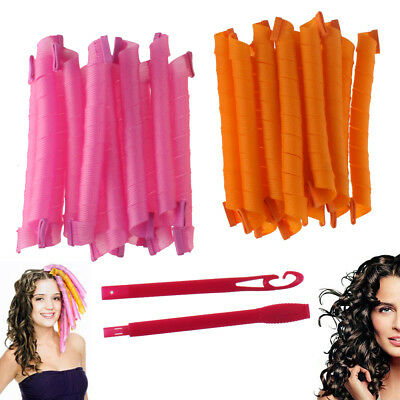 36Pcs 55CM Long Hair Rollers Curlers Magic Circle Twist Spiral Styling DIY Tools