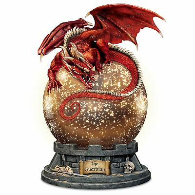 """""""The Guardian"""" Dragon Sculpture With Lighted Mercury Ball"""