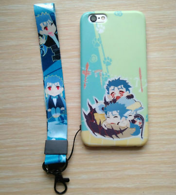 FGO Fate Grand Order Master Q Lancer Card Case Phone Strap Keychain Keyring New
