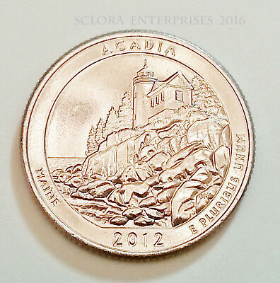 2012 S Acadia Quarter *from Mint Roll*  **free Shipping**