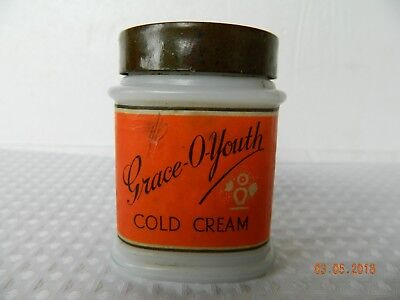Vintage Grace O Youth Cold Cream Jar