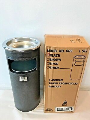 Vintage Contico Commercial Ashtray Stand Black Ash Garbage Can Retro USA NIB