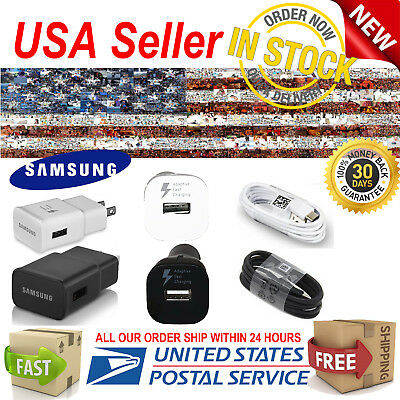 Original Samsung Galaxy s8 s8+ s9 s9+ Note 8 Fast Wall + Car Charger USB-C Cable