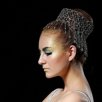 Luxury Crystal Crown Bridal Headband Hair Tiara King Queen Prom Party Pageant