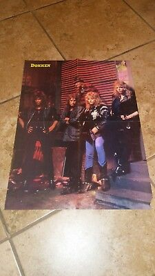 Vintage and rare dokken pinup nightmare on elm st poster w tooth and nail