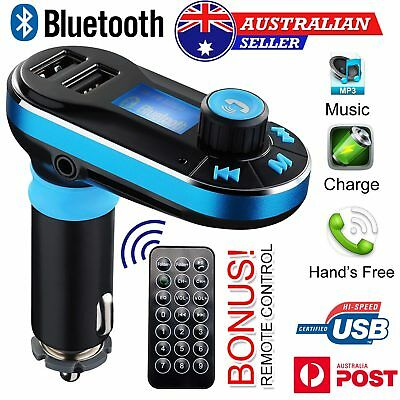 Bluetooth Car FM Transmitter+Dual 12V USB Charger+MP3 Player Hands free Car Kit