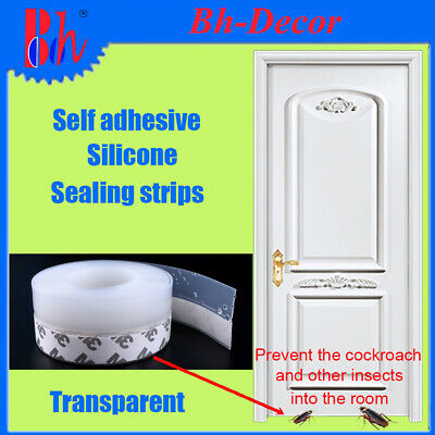Transparent Silicone Weather Stripping Self Adhesive Door Bottom Sealing Strips