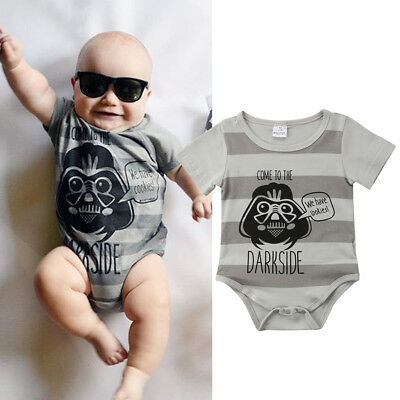 Star Wars Newborn Baby Boy Girl Cotton Romper Jumpsuit Bodysuit Clothes Outfit