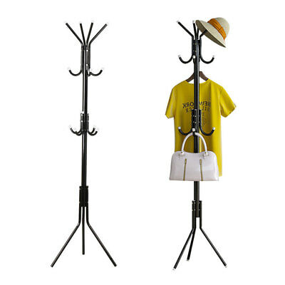 12 Hooks Metal Hat and Coat Clothes Umbrella Hall Stand Rack Hanger Tree Storage