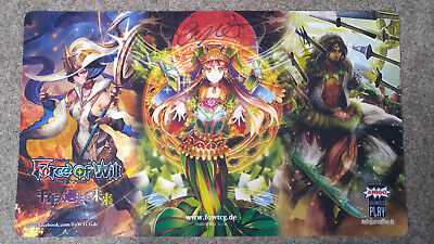Force of Will Scheherazade Spielmatte Playmat signed by Eiji Shishido 1000 Jahre