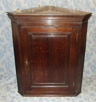 Large Grand Antique GEORGIAN Oak Corner Cupboard c1820 (corner 10)