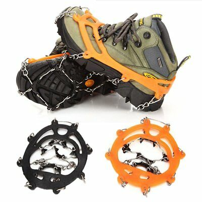 8 Teeth Ice Snow Boot Shoe Cover Spike Cleat Crampons Gripper Climbing Anti Slip