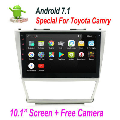 """Android 7.1 10.1"""" Car GPS Stereo WIFI DAB+ OBD2  For Toyota Camry  2007-2011"""