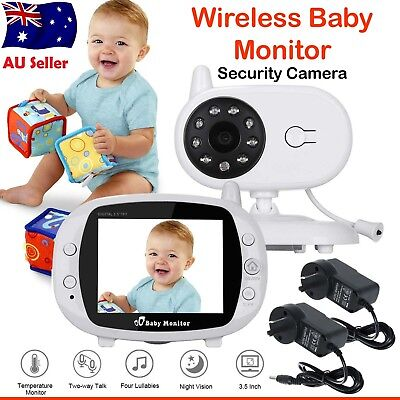 "3.5"" LCD Baby Pet Monitor Wireless Digital 2 Way Audio Video Camera Security OZ"