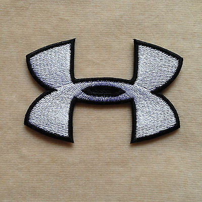 d77adfa71 UNDER ARMOUR SPORT Logo Embroidery Iron On Patch Badge #White ...