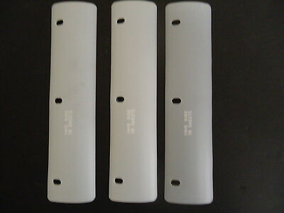 """Lot of 10 Oliner White Binder Sheet Lifter Guards 3 Ring 3"""" x 11"""""""