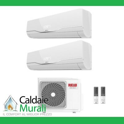 Conditionneur D'Air Riello Onduleur Dual Split Aaria Plus 12000 + Btu 12+12