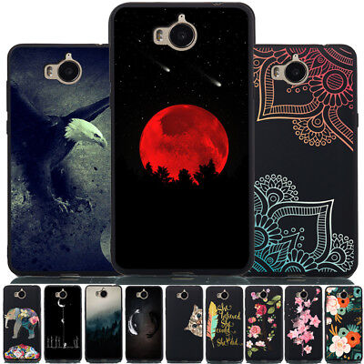For Huawei Y6 Pro 2017 Y7 Y6 2018 Y5 II Shockproof Painted Soft Silicone Cover