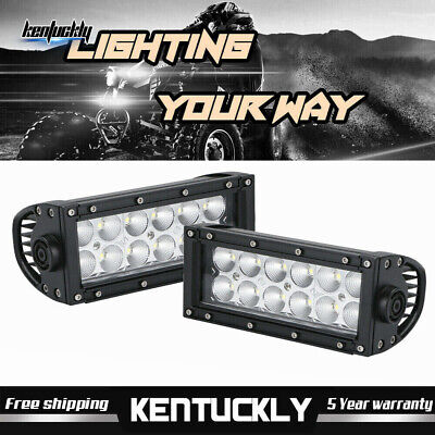 "2PCS 7"" inch Led Work Light Bar Spot Fog Pod OffRoad Truck Jeep 4WD 72W 12V"