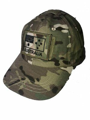 Australia Flag Patch Velcro® backing on Multicam™ Tactical Operator Cap
