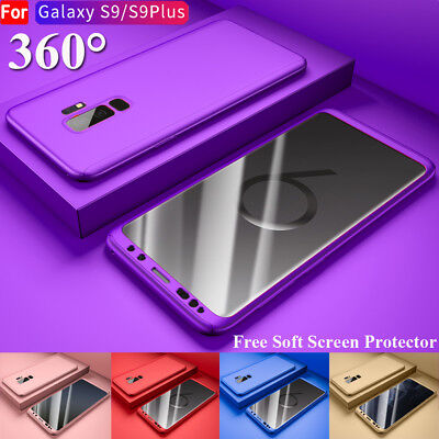 For Samsung Galaxy S9 Plus 360° Full Body Armor Shockproof Case Cover+Soft Film