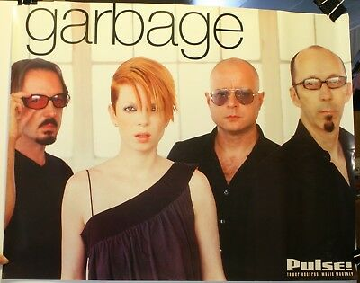 """2001 Garbage 18 x 23"""" Promo Poster Pulse! Tower Records Shirley Manson"""