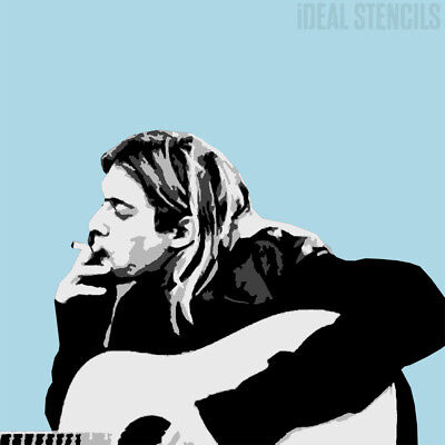 Kurt Cobain Stencil Multi Layer Home Decor Portrait Art Wall Painting Reusable