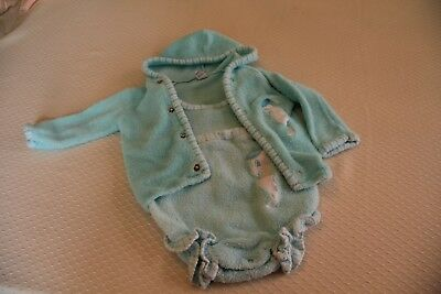 Vintage 1960s infant girls swimsuit and hoodie coverup