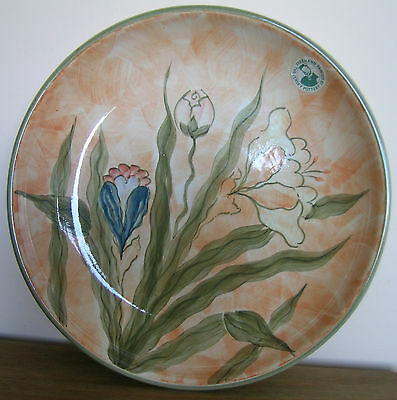 Jersey Pottery Fruit Bowl Hand Painted