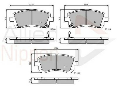 Mercedes CLS C219 320 CDI Genuine Allied Nippon Rear Brake Pads Set