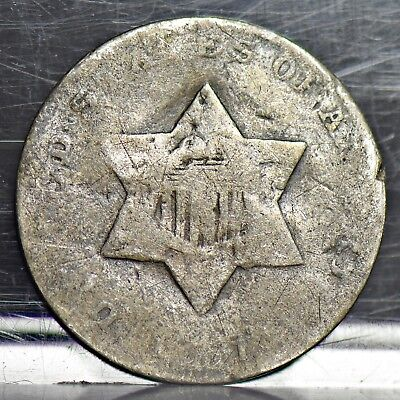 1851 Three Cent Silver 3CS -AG (#10686)